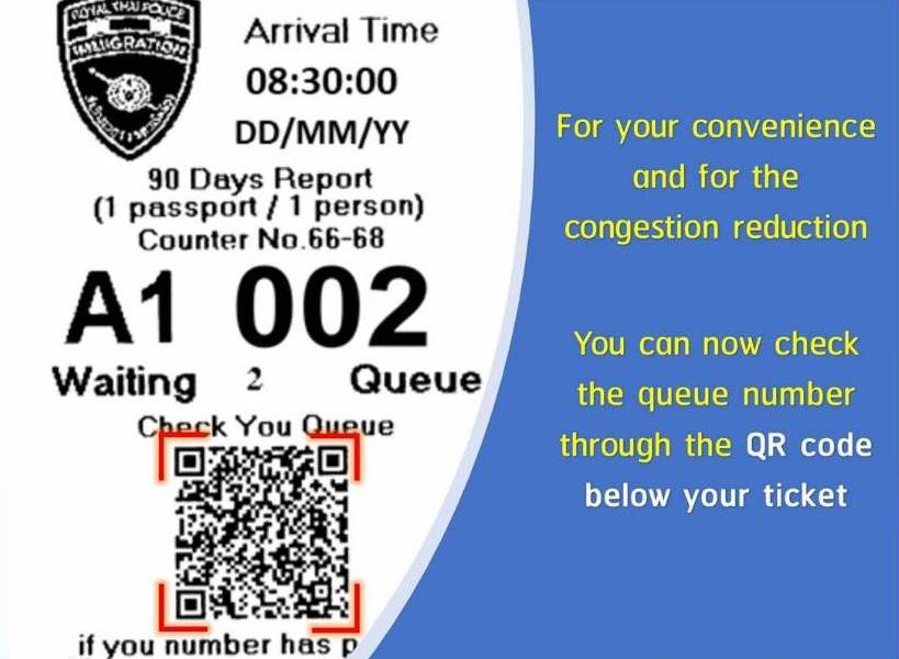 For your convenience and for the congestion reduction using by QR code