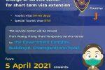 Announcement of Counter Service (TR-60, STV Visa)